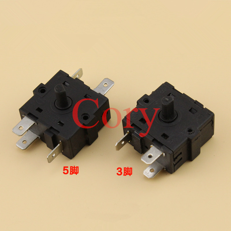 1PCS Electric Room Heater 3/5 Position 3/5Pin Rotary Switch Selector AC 250V 10A