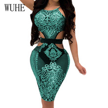 WUHE Sexy Off Shoulder Summer Reflective Sequin Dress Women Backless Sleeveless Bodycon Slim Femme Glitter Party Vestidos