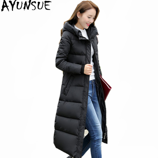 Winterjas 2019 Mode.Ayunsue Vrouwen Parka 2019 Mode Hooded Vrouwen Winter Jas