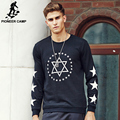 Pioneer Camp 2017 Men's wear Brand clothing Men Hoodies Fashion tracksuits male hoodie Black sweatshirt 622107