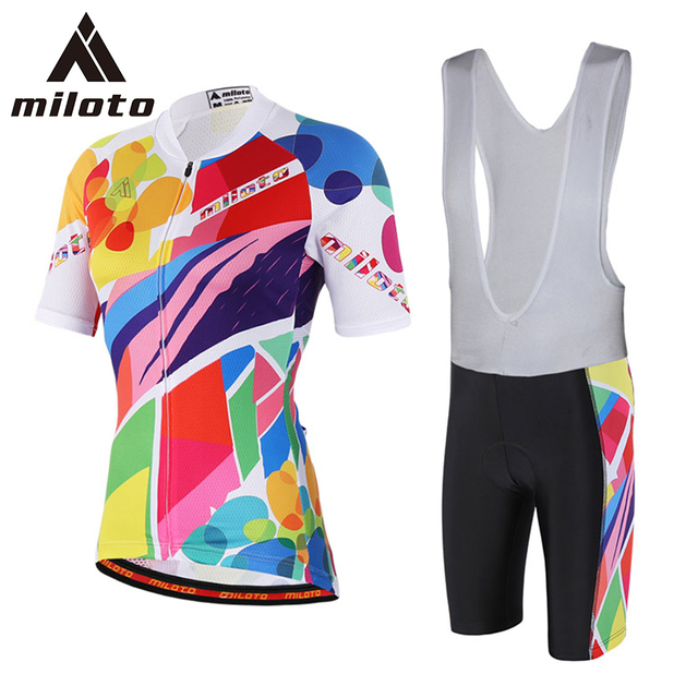 MILOTO Women Ropa Ciclismo Cycling Jersey Sport Wear Summer Girls Bike  Clothing Reflective Cycle Clothes Silicon Gel Pad XXS-5XL 350289a95