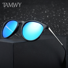 TAMWY BRAND DESIGN Classic Polarized Sunglasses Men Women Driving Round Frame Sun Glasses Male Goggle UV400 Gafas De Sol T4171