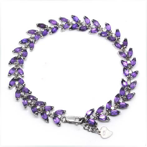 New Arrival Rushed Qi Xuan_Free Shipping Purple Stone Elegant Bracelets_S925 Solid Silver Bracelets_Manufacturer Directly Sales 2017 rushed qi xuan red stone bangles