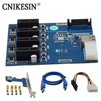 CNIKESIN Dedicated PCI E To PCIe Adapter 1 Drag 4 PCI E 1X Expansion Card 4
