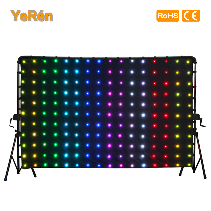 LED Video Curtain LED Backdrop MotionDrape LED DJ Effect Lighting P18 6.56x3.28ft  2x1meters  RGB SMD 5050 SD card Controller freeshipping 2 mtr x 4 mtr p18 matrix led rgb dj party garden star video curtain backdrop for home garden birthday party