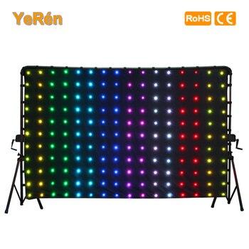 Led cortina de vídeo led pano de fundo motiondrape led dj efeito iluminação p18 2x3 metros rgb smd 5050 sd cartão controlador