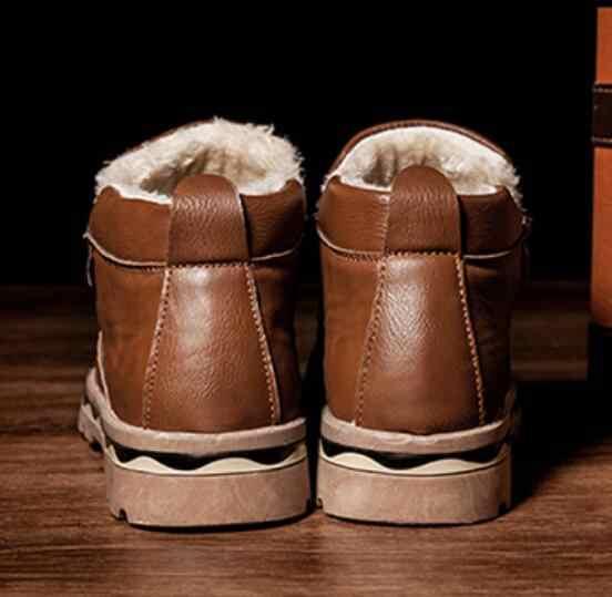 2019 Casual Laarzen Mannen Zwarte Mens winter Laarzen Mannen Veiligheid Werkschoenen mannen laarzen verdikking warme martin katoen sneeuw boot