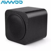 Avwoo حجم صغير مشغل موسيقى بلوتوث اللاسلكية المتحدث الفاخرة خشبية تصميم المحمولة ايفي صدمة باس مضخم سياحة