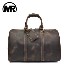 MARKROYAL Travel Bag Large Capacity For Men And Women Retro First Layer Leather Tote Weekend Overnight