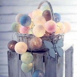 Гирлянда, хлопковые шары, гирлянды, хлопковый шар, светящаяся цепочка, Guirlande Lumineuse, Рождественские огни, украшение для внутренней вечеринки, ...