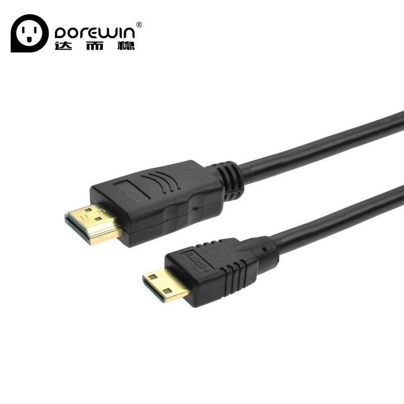 Dorewin HD Mini HDMI to HDMI font b Cable b font 1 4 Version 1080P 3D