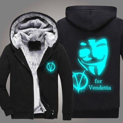 6d543069b31ec V for Vendetta New winter coats hoodie jackets light Anime Hooded Zipper  men thick cardigan Free shipping