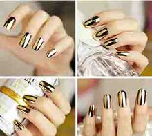 Rocooart M8601 New hot Fashion Smooth Gold Foil Armour Nail Sticker Art Decoration Sticker Patch Wraps