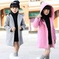 De los niños del desgaste de los niños los nuevos 2016 niñas primavera ropa de abrigo de paño de lana edición de han cuhk gabardina paño de lana una compromete