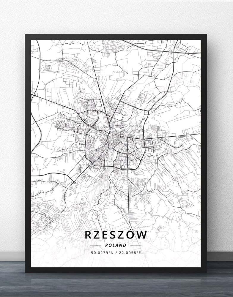 Rzeszow Sosnowiec Swinoujscie Szczecin Tarnow Torun Tychy Walbrzych Warsaw Wloclawek Wroclaw Zabrze Zielona Poland Map Poster
