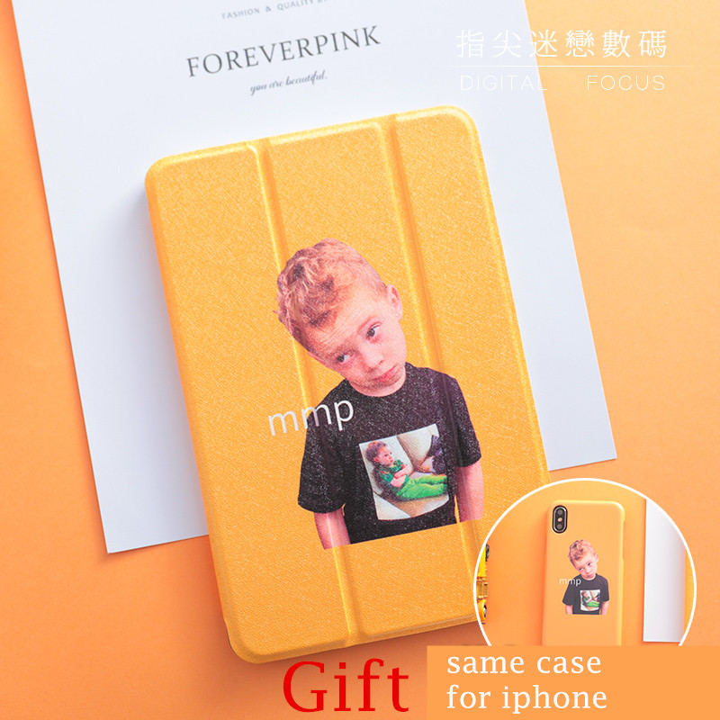 Boy Magnet PU Leather Case Flip Cover For iPad Pro 9.7 12.9 10.5 Air Air2 Mini 1 2 3 4 Tablet Case For New ipad 9.7 2017 2018