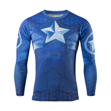 2016 new anime superman captain America fitness T-shirt breathable avengers alliance T-shirt leisure news T-shirt