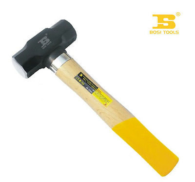 Bosi Tool 3LB Sledge Hammer with Double Color Beech Wood HandleBosi Tool 3LB Sledge Hammer with Double Color Beech Wood Handle