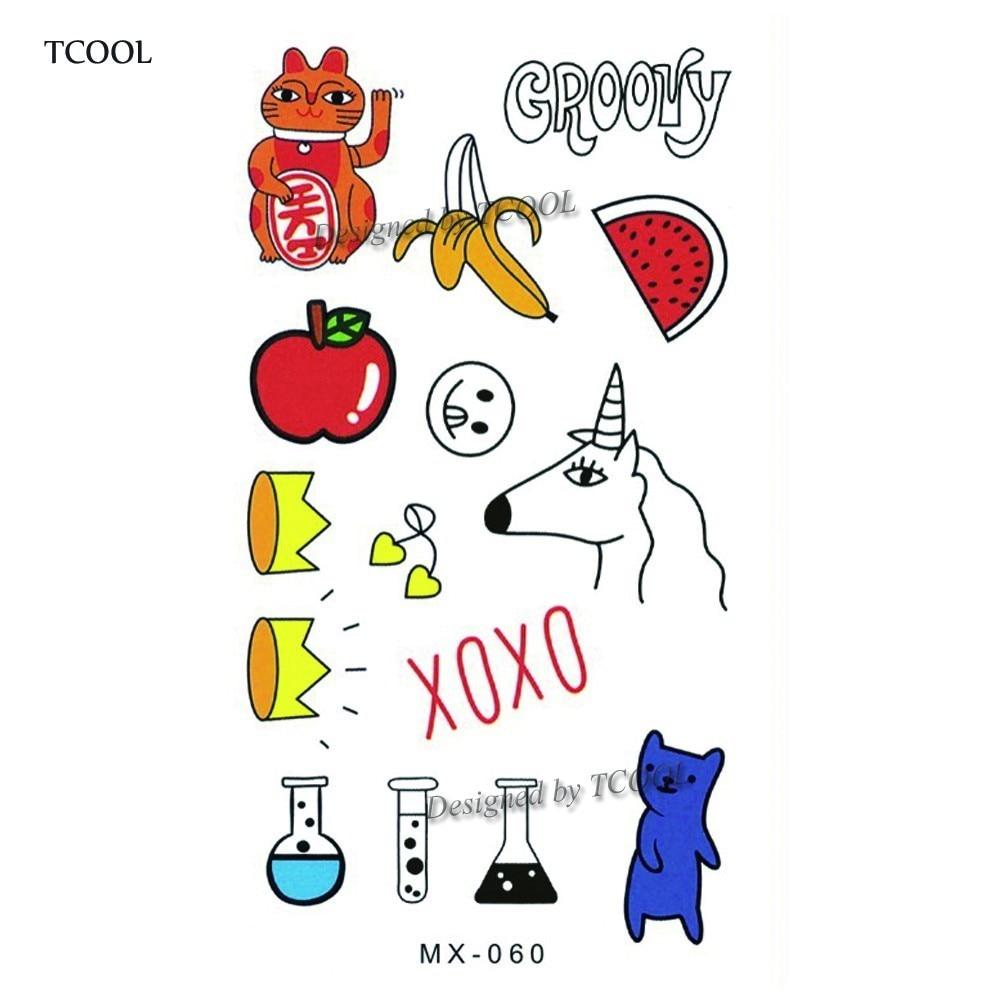 HXMAN Cartoon Animals Children Temporary Tattoo Sticker Waterproof Fashion Fake Body Art Tattoos 9.8X6cm Kids Hand Tatoo MX-060