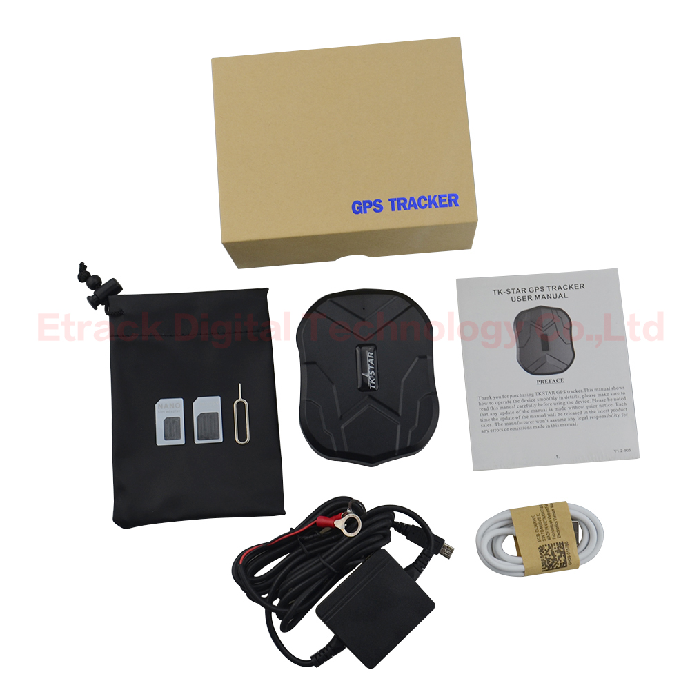 TK905 Waterproof Car GPS Tracker Magnet Vehicle GPS Locator Real Time Lifetime Free Tracking APP 5000mAh