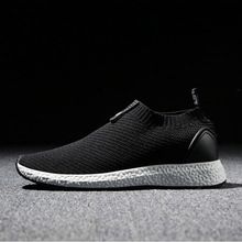2017 New arrival leisure Sports lifestyle shoes for Man Low  comfortable breathable light sneaker men slip-on black gray red