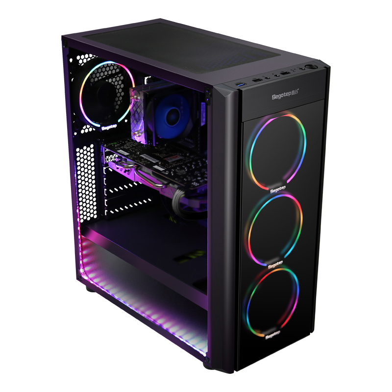 Getworth A2 AMD Ryzen7 2700 Gaming PC GTX1060 120GB SSD 8GB RAM Colorful 6 Fans Gaming Cool Desktop PC Computer For PUBG 2 Types