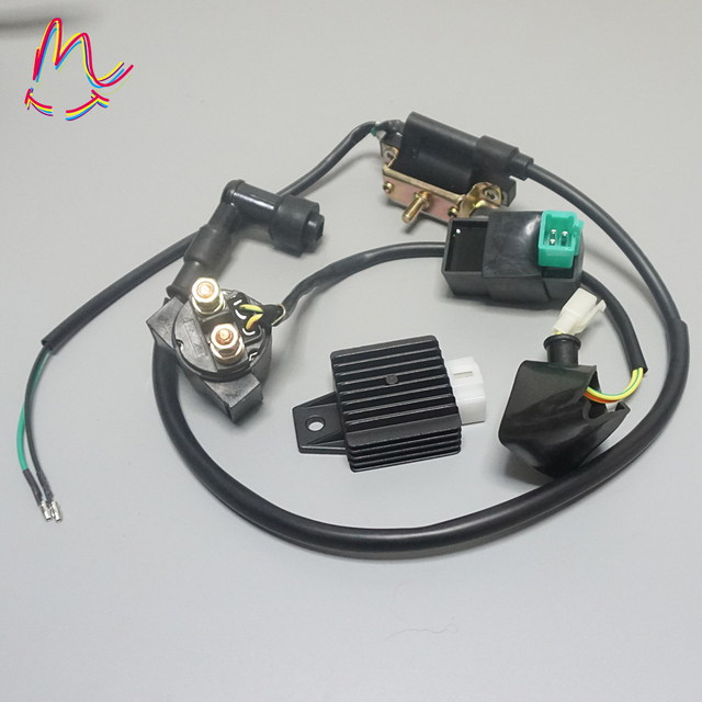 Lgnition Coil 5 Pin CDI 12v Regulator Rectifier Relay For 50 70 90