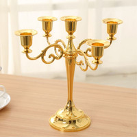 High Quality European Style Metal Table Hotel Festival Birthday Candelabra Candlestick Candle Stand Decoration WB164 T15