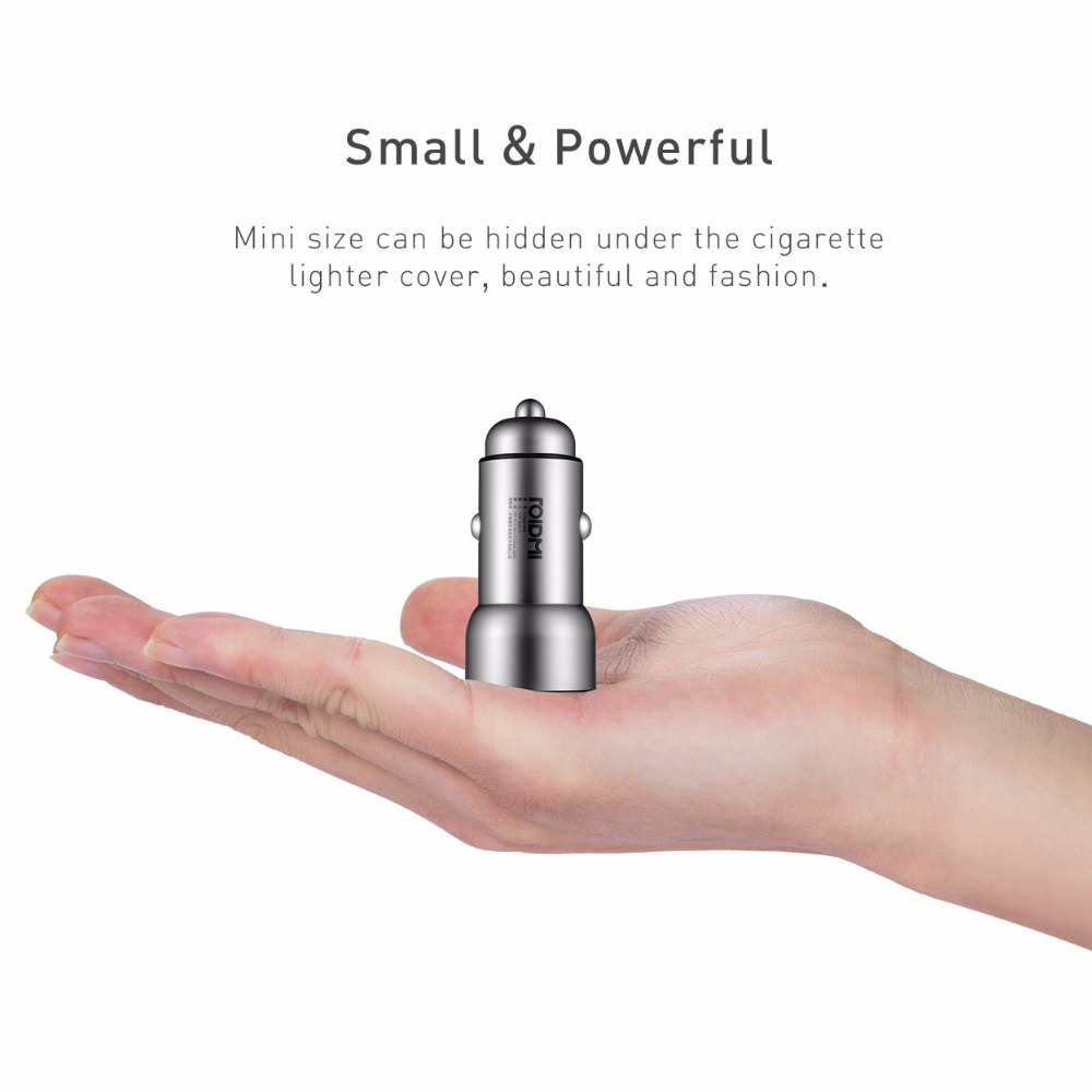 Original Roidmi Smart Car Charger C1 Dual USB Port Max 5V 3 6A Quick Charger Metal Body Universal Smart Charging for All Cars in Mobile Phone Chargers from Cellphones Telecommunications