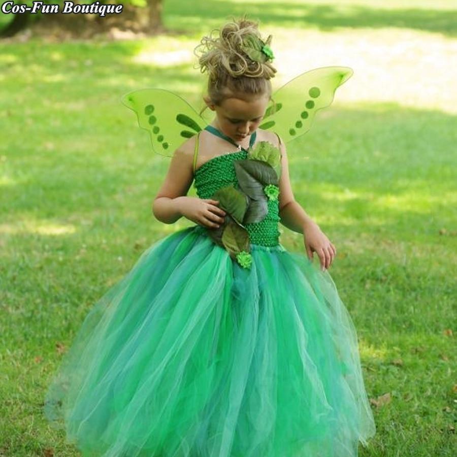 Detail Feedback Questions About Green Garden Fairy Girl Tutu Dress