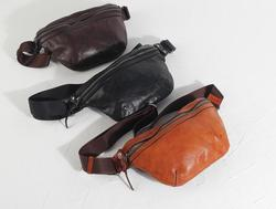 2019 vintage handmade unisex leisure belt bag cow leather waist bag