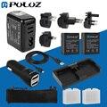 Go Pro Accesorios 13 en 1 Combo Kit (batería Cargador de Pared Set + Baterías + Cargador de Coche + Cable + Bolsa De Malla) para gopro hero3 +/3