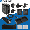 Go Pro Accessories 13 in 1 Combo Kit (Battery Wall Charger Set+ Batteries + Cable + Car Charger +  Mesh Bag) for GoPro HERO3+ /3