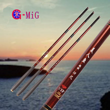 MiG NEW Ultralight Hard 3.6/4.5/5.4/6.3/7.2 Meters Stream Hand Pole Carbon Fiber Casting Telescopic Fishing Rods Fish Tackle