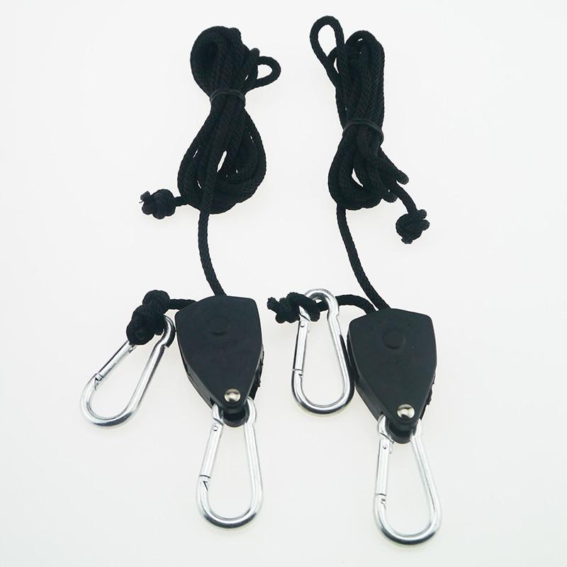 BEYLSION Adjustable 1 Pair 2 PCS 18 Inch Nylon Rope Ratchet Yoyo Hangers Light Hanging Kit for LED Grow Light Grow Tent Room  (5)
