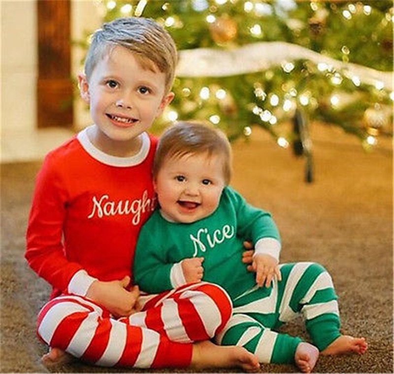 ee5f73257355 NEWBABY Christmas Striped Infant Baby Onesie Boys Girls Creeper 2Pcs ...