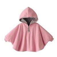 2016 Autumn Fashion Design Baby Jacket Both Sides Wear Boys Girls Cloak Coat Hooded Jacket Cute