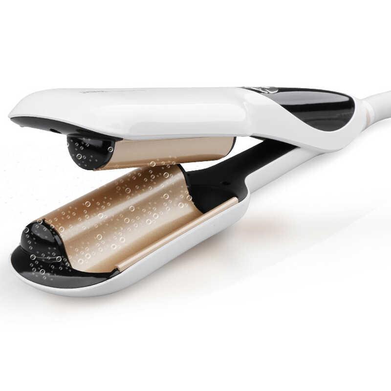 Riwa 120-200 Celcius LCD Display Curling Wand Nano Keramik Curling Besi Rambut Ion Negatif 2 Tong Atlet Curling Putra rambut Stylers