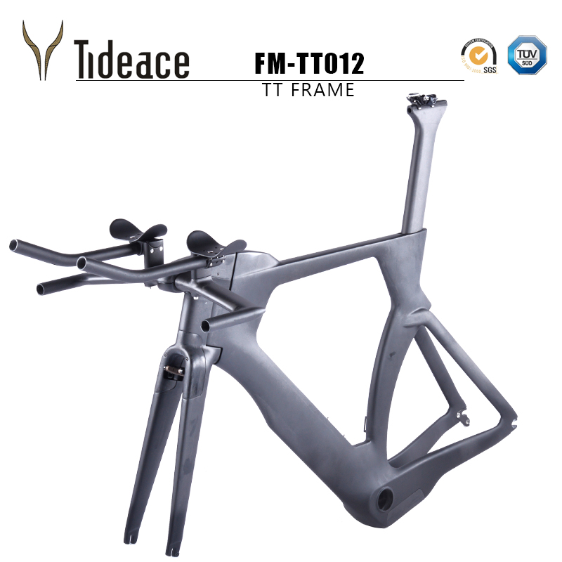 Tideace Time Trial Race <font><b>bike</b></font> frame <font><b>OEM</b></font> carbon tt <font><b>bike</b></font> frame 2018 Full Carbon TT Frameset Di2 triathlon Frame with TRP brake image
