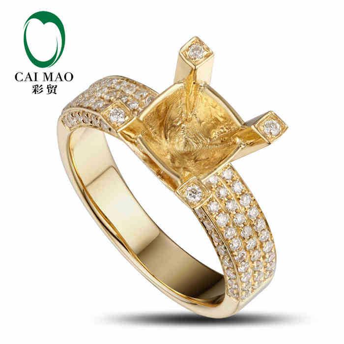Aliexpress Com Buy Caimao Round Cut Semi Mount Ring