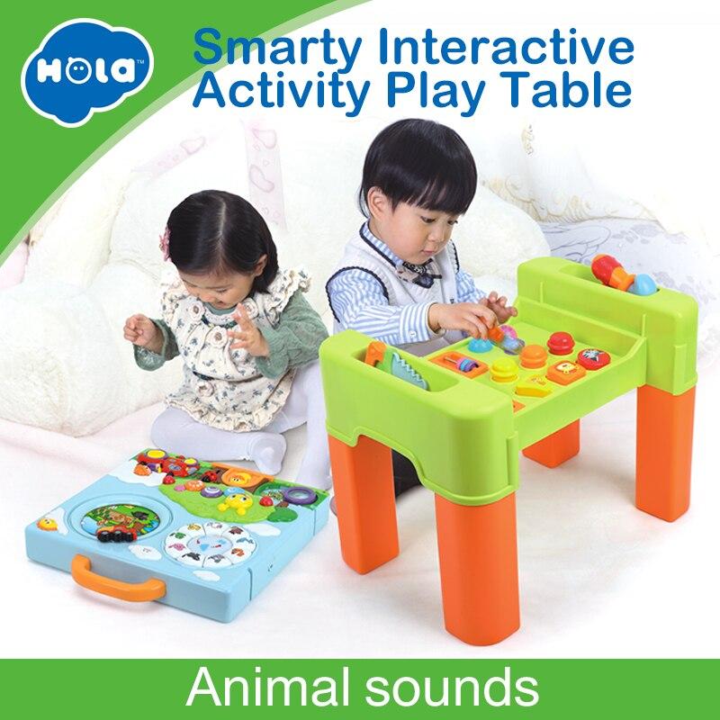 6 en 1 fonction changeante enfants apprentissage Table d'activité avec Quiz, musique, lumières, formes, outils et IQ Exploration jeu jouets cadeaux