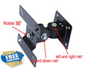 free shipping 10 inch 24inch tiltable swivel LCD wall bracket mount stand  tv holder