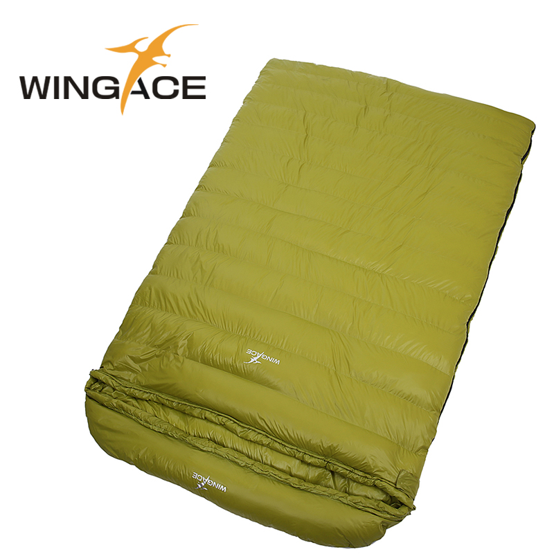 Fill 1500G outdoor camping envelope sleeping bag 3 Season goose down adult double sleeping bags tourist equipment