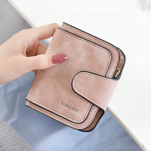 2019 New Snap Fastener Zipper Short Clutch Wallet Women Wallet Small Female Purse Short Coin Card Purse Vintage Matte цена в Москве и Питере