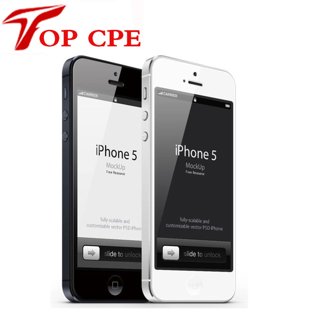 Iphone 5 Factory Unlocked Original Apple Iphone 5 Cell phone 1G RAM 16GB ROM IOS OS 4.0 inch 8MP WIFI GPS Cell Phones add gift