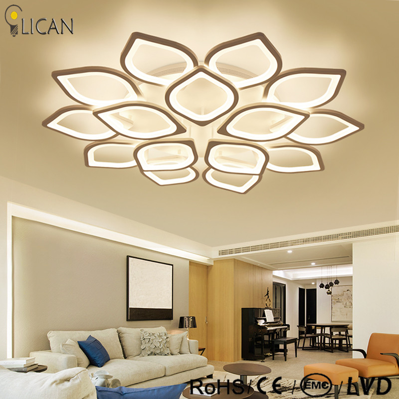 US $93.0 25% OFF|Lican Modern led ceiling Chandelier lights for living room  bedroom Plafon home Dec AC85 265V White Led Chandelier Lamp Fixtures-in ...