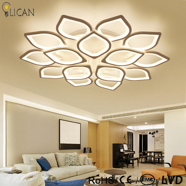 Lican Modern Led Ceiling Chandelier Lights For Living Room Bedroom Plafon Home Dec Ac85 265v White Lamp Fixtures