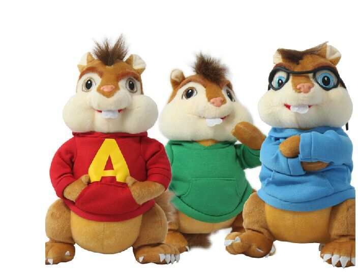 3 pieces a set Movie & TV mouse toy - lovely Toy lovely plush Alvin, Simon, Theodore doll about 32cm удлинитель stayer 50м на рамке 55018 50