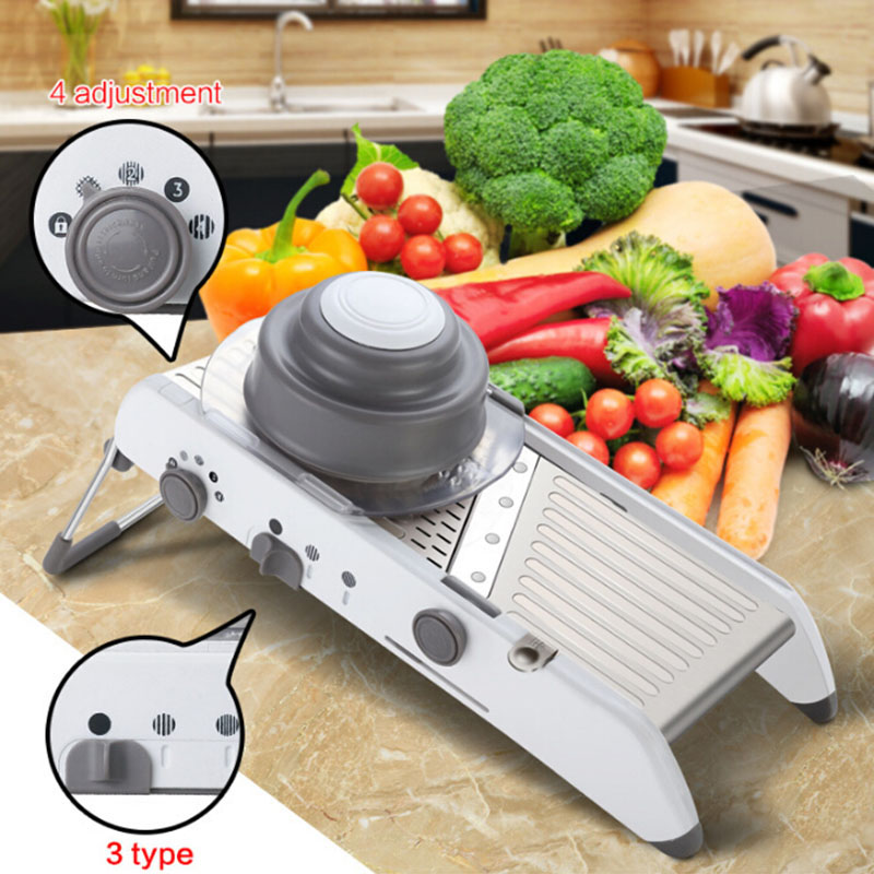 New Multifunctional Adjustable Mandoline Slicer Manual Vegetable Fruit Cutter Potato Carrot Grater Kitchen Accessories