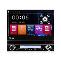1 Din 7 inch touch screen Car Navi DVD Player single din universal Car stereo radio with USB BT Free amp etc